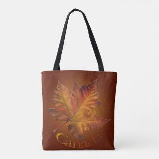 Canada Tote Bags Gold Maple Leaf Souvenir Bags