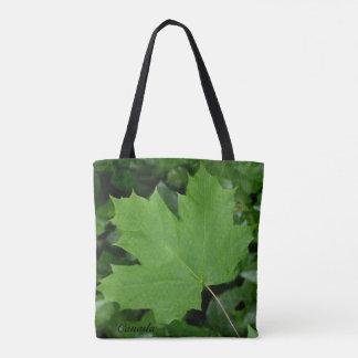 Canada Tote Bags Green Canada Maple Leaf Bags