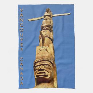 Canada Towel Native Totem Pole Vancouver Tea Towel