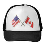 Canada/USA Flag Hat