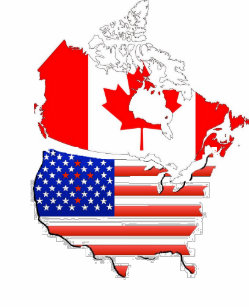 Canada And Usa Flag T-Shirts & Shirt Designs | Zazzle