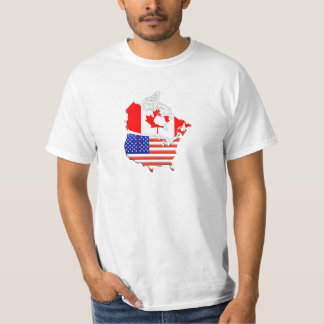 CANADA USA Map Flags T-shirt