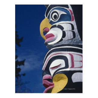 Canadá, Vancouver, parque de Stanley, tótem, Postal