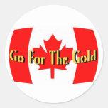 Canadá - vaya para el oro etiqueta