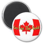 Canadá - vaya para el oro imán para frigorifico
