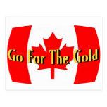 Canadá - vaya para el oro tarjetas postales
