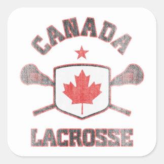 Canada-Vintage Square Sticker