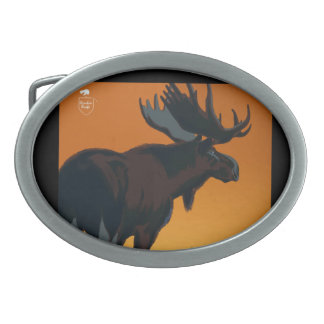 Canada Vintage Travel Poster Belt Buckle