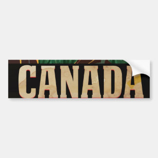 Canada Vintage Travel Poster Bumper Sticker