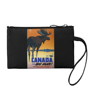Canada Vintage Travel Poster Coin Wallet