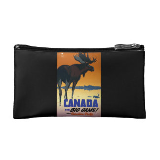 Canada Vintage Travel Poster Makeup Bag