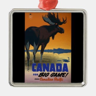 Canada Vintage Travel Poster Metal Ornament