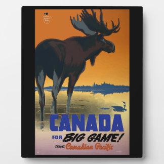 Canada Vintage Travel Poster Plaque