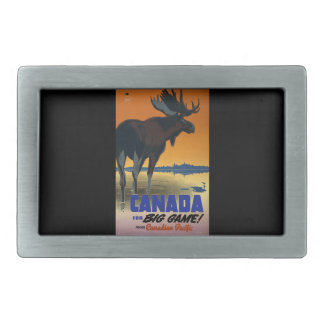 Canada Vintage Travel Poster Rectangular Belt Buckle