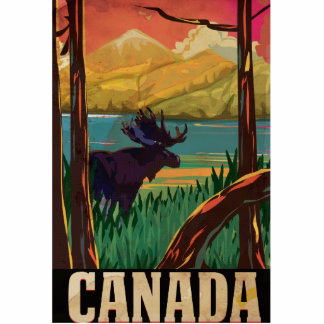 Canada Vintage Travel Poster Statuette