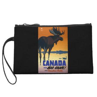 Canada Vintage Travel Poster Wristlet