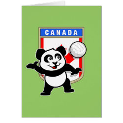 Canada Volleyball Panda Note Card