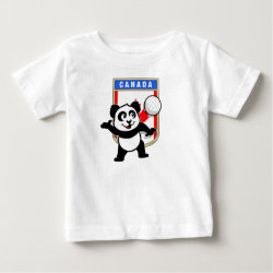 Baby Fine Jersey T-Shirt with Canada Volleyball Panda design