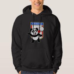 Men's Basic Hooded Sweatshirt with Canada Volleyball Panda design