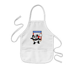 Kid's Apron with Canada Volleyball Panda design