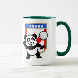 Combo Mug with Canada Volleyball Panda design