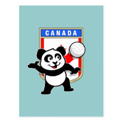 Postcard with Canada Volleyball Panda design