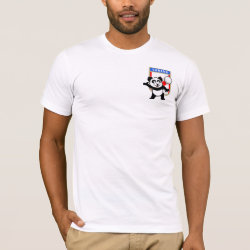Men's Basic American Apparel T-Shirt with Canada Volleyball Panda design