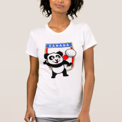 Women's American Apparel Fine Jersey Short Sleeve T-Shirt with Canada Volleyball Panda design