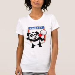 Women's American Apparel Fine Jersey Short Sleeve T-Shirt with Canada Volleyball Panda design