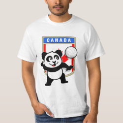 Men's Crew Value T-Shirt with Canada Volleyball Panda design