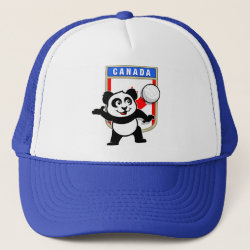 Canada Volleyball Panda Trucker Hat