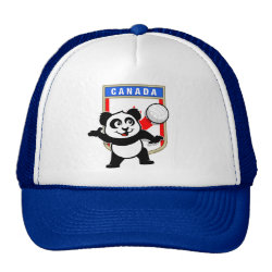 Trucker Hat with Canada Volleyball Panda design