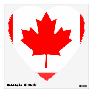 canadian flag wall decals amp wall stickers zazzle canada hockey association sport wall decals stickers