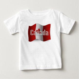 Canada Waving Flag Baby T-Shirt