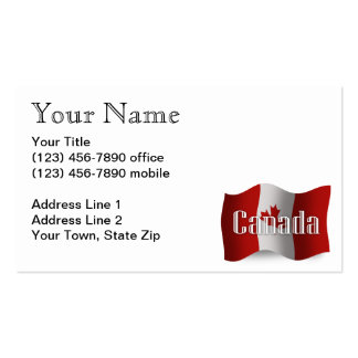Canada Waving Flag Double-Sided Standard Business Cards (Pack Of 100)