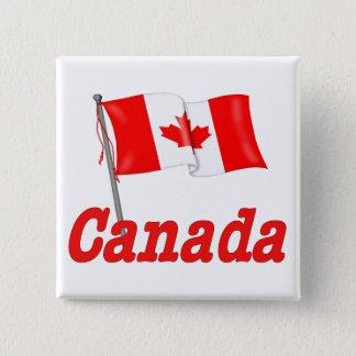 Canada Waving Flag Button