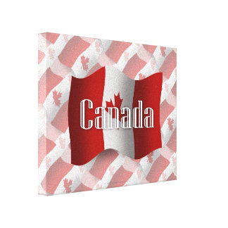 Canada Waving Flag Gallery Wrapped Canvas