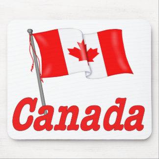 Canada Waving Flag Mouse Pad