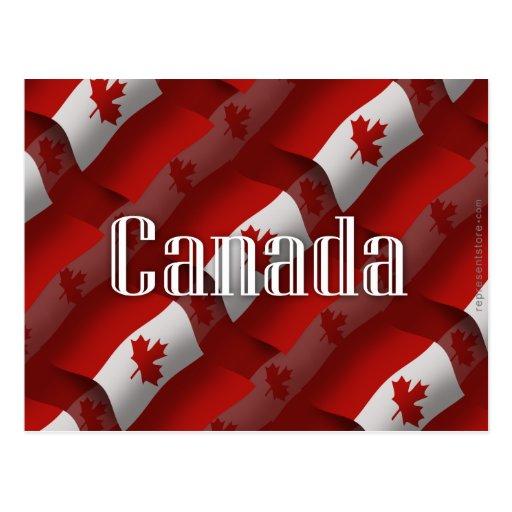 Canada Waving Flag Postcard
