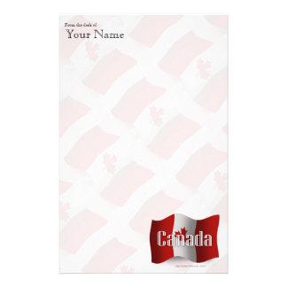 Canada Waving Flag Stationery