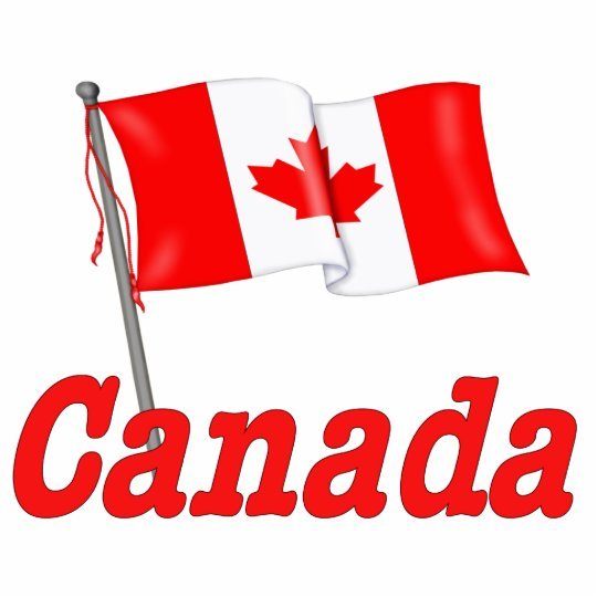 Canada Waving Flag Statuette