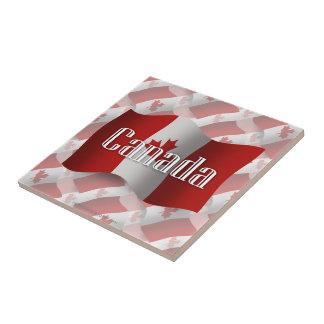 Canada Waving Flag Small Square Tile