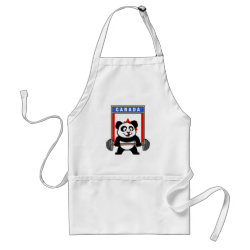 Apron with Canadian Weightlifting Panda design