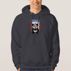 Men's Basic Hooded Sweatshirt with Canadian Weightlifting Panda design