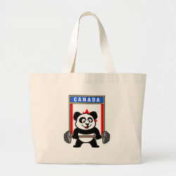 Jumbo Tote Bag with Canadian Weightlifting Panda design
