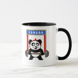 Combo Mug with Canadian Weightlifting Panda design