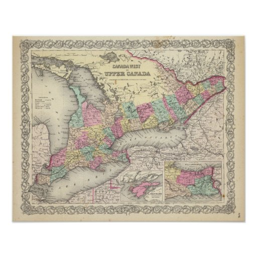 Canada West or Upper Canada Poster