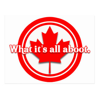 Canada What It's All Aboot Postcard