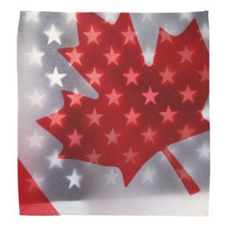 Canada with America flags Bandana