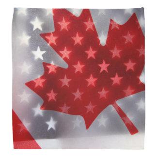 Canada with America flags Bandana